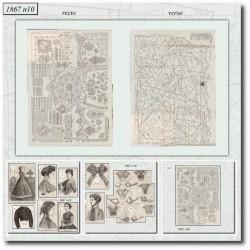 Sewing patterns La Mode Illustrée 1867 N°10
