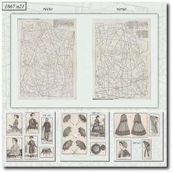 Sewing patterns La Mode Illustrée 1867 N°21