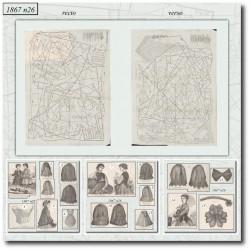 Sewing patterns La Mode Illustrée 1867 N°26