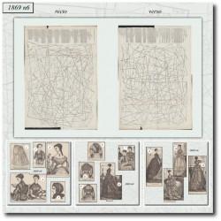 Sewing patterns La Mode Illustrée 1869 N°06