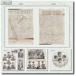 Sewing patterns La Mode Illustrée 1869 N°25