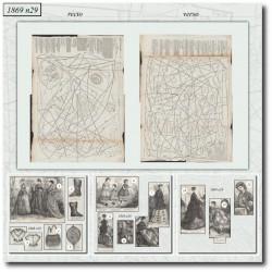 Sewing patterns La Mode Illustrée 1869 N°29