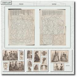 Sewing patterns La Mode Illustrée 1869 N°49