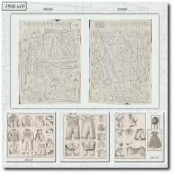 выкройку La Mode Illustrée 1866 N°10