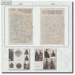 Patrons de La Mode Illustrée 1875 N°42