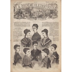 Complete magazine La Mode Illustrée 1869 N°03