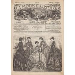 Complete magazine La Mode Illustrée 1869 N°10