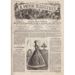 Complete magazine La Mode Illustrée 1867 N°10
