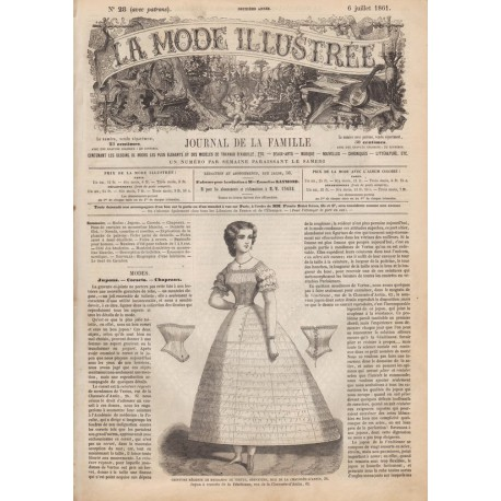 Revue complète de La Mode Illustrée 1861 N°28