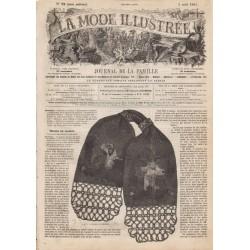 Complete magazine La Mode Illustrée 1861 N°32