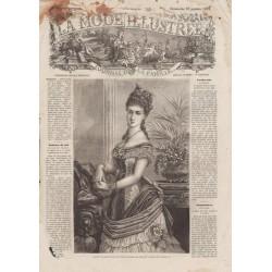 Complete magazine La Mode Illustrée 1876 N°04