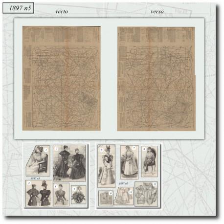 Sewing patterns La Mode Illustrée 1897 N°05
