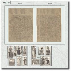 Patrons de La Mode Illustrée 1897 N°07
