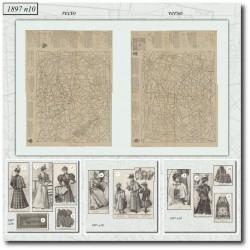 Patrons de La Mode Illustrée 1897 N°10