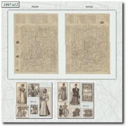 Patrons de La Mode Illustrée 1897 N°12