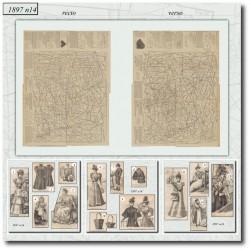 Patrons de La Mode Illustrée 1897 N°14