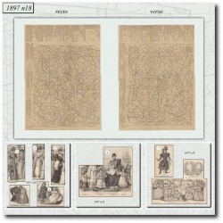 Patrons de La Mode Illustrée 1897 N°18