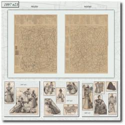 Patrons de La Mode Illustrée 1897 N°23
