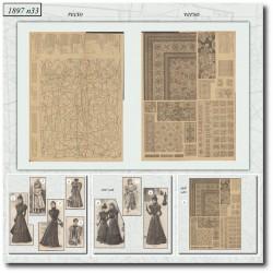 Sewing patterns La Mode Illustrée 1897 N°33