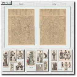 Patrons de La Mode Illustrée 1897 N°46