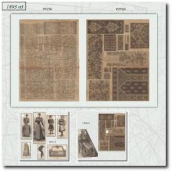 Sewing patterns La Mode Illustrée 1893 N°03