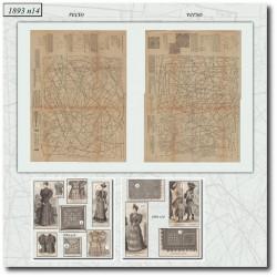 Sewing patterns La Mode Illustrée 1893 N°14