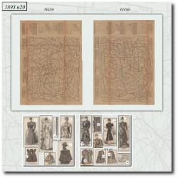 Patrons de La Mode Illustrée 1893 N°20