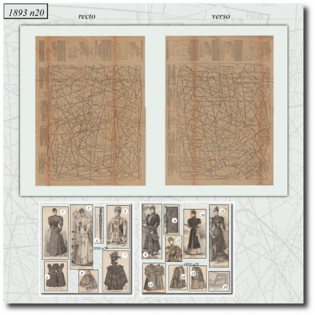 Sewing patterns La Mode Illustrée -bride-jupon-corsage-gants-napperons1893-20