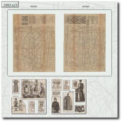 Patrons de La Mode Illustrée 1893 N°23