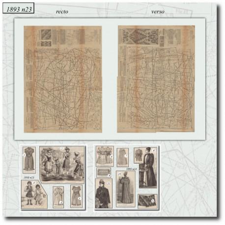 Sewing patterns La Mode Illustrée 1893 N°23-bath-dresses