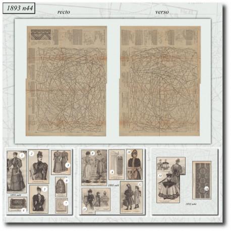 Patrons de La Mode Illustrée 1893 N°44