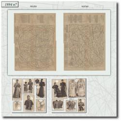 Patrons de La Mode Illustrée 1894 N°7