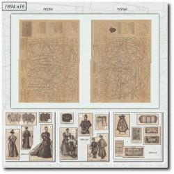 Patrons de La Mode Illustrée 1894 N°16