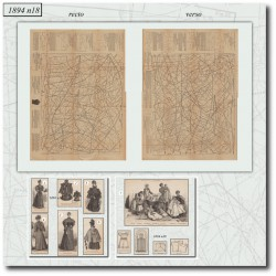 Patrons de La Mode Illustrée 1894 N°18