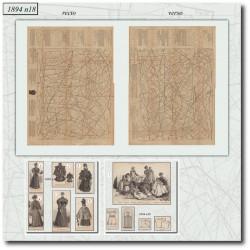 Sewing patterns La Mode Illustrée 1894 N°18