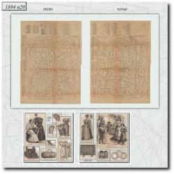 Patrons de La Mode Illustrée 1894 N°20