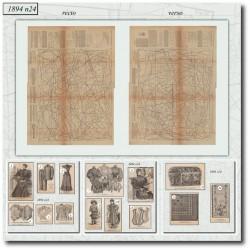 Sewing patterns La Mode Illustrée 1894 N°24