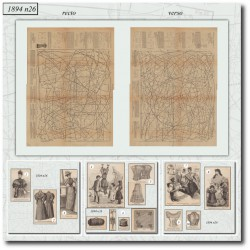 Patrons corset jupon corsage 1894 N°26