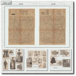 Patrons de La Mode Illustrée 1894 N°28