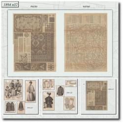 Patrons de La Mode Illustrée 1894 N°32