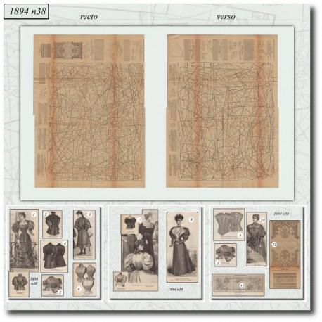 Patrons de La Mode Illustrée 1894 N°38