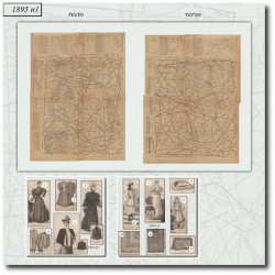 Victorian sewing patterns La Mode Illustrée 1895 N°01