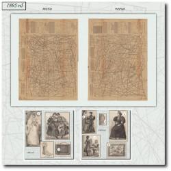 Patrons de La Mode Illustrée 1895 N°05
