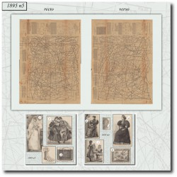 Victorian sewing patterns La Mode Illustrée 1895 N°05
