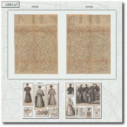 Patrons de La Mode Illustrée 1895 N°07