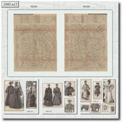 Sewing patterns La Mode Illustrée 1895 N°12