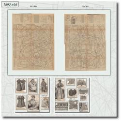 Patrons de La Mode Illustrée 1895 N°16