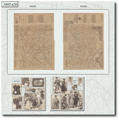 Patrons de La Mode Illustrée 1895 N°20