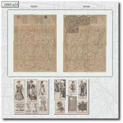 Patrons de La Mode Illustrée 1895 N°23