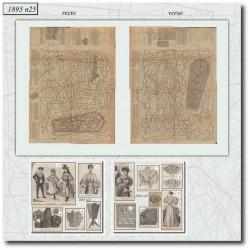 Patrons de La Mode Illustrée 1895 N°25